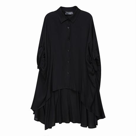 アシンメトリー ロングシャツ ブラウス 個性的 半袖 韓国ファッション レディース 不規則デザイン シャツ トップス 大きいサイズ 大人カジュアル 大人可愛い 619935778786