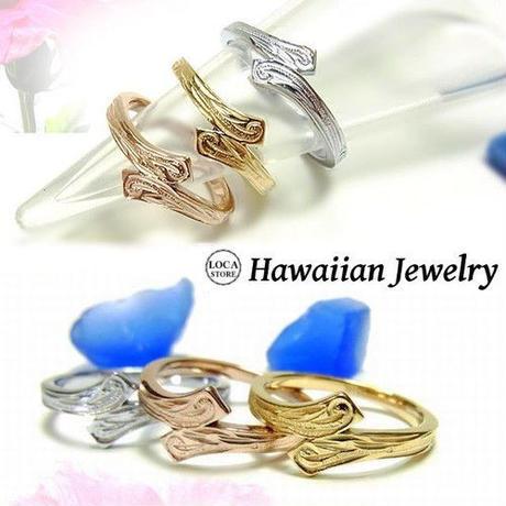 【ハワイアンジュエリー / HawaiianJewelry】 ステンレスリング 指輪 イエローゴールド ピンクゴールド マリッジ 結婚指輪 (grs8555)