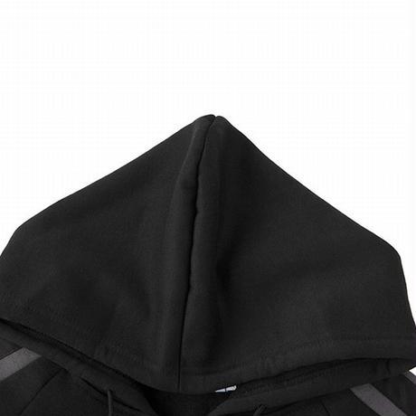 ユニセックス ジップアップ パーカー メンズ レディース 袖ライン オーバーサイズ ルーズ 大きいサイズ ストリート系 ファッション TBN-631080199845
