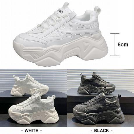 ダットスニーカー 厚底 22.0~25.0cm 厚底スニーカー スニーカー 韓国ファッション レディース シューズ カジュアル スポーツ 歩きやすい 疲れない DTC-625805284858