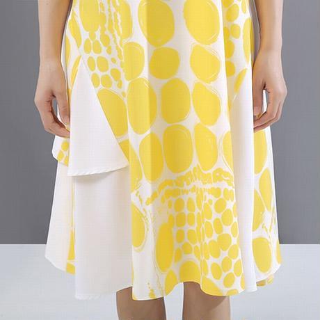 ワンピース ラウンドネック Aライン 大きいサイズ 韓国ファッション レディース ゆったりウエスト ハイウエスト 大人カジュアル 大人可愛い ガーリー 621236875510