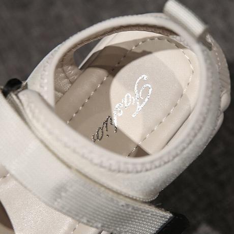 スポーツサンダル ダットソール クマ スポサン 4.0cm 韓国ファッション レディース サンダル ベルト マジックテープ フラットサンダル 厚底サンダル 歩きやすい 594739745115