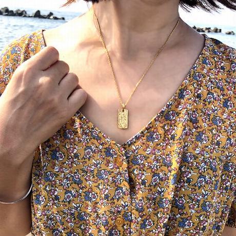 ハワイアンジュエリー ネックレス マリア リバーシブル メンズ レディース ペンダント 金属アレルギー対応 ハワジュ スクロール サージカル ステンレス PVD インスタ gps81213