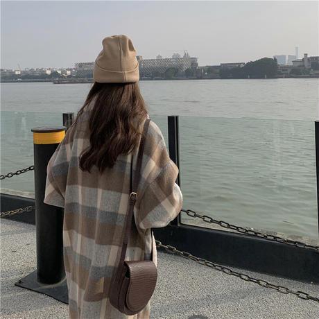 チェック柄 ボアコート ラムウール 韓国ファッション レディース コート 切り替え 折り襟 キルティング フロントボタン シングルブレスト 大人可愛い ガーリー DTC-630519392038