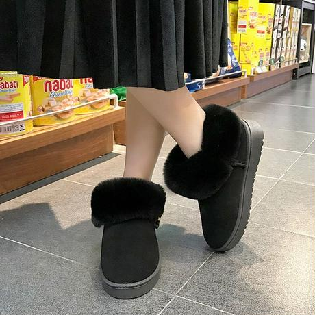 ムートンブーツ ミニ 韓国ファッション レディース ファーブーツ ファー ショート丈 もこもこ フラットソール ぺたんこ 歩きやすい 履きやすい (DTC-602515103523)