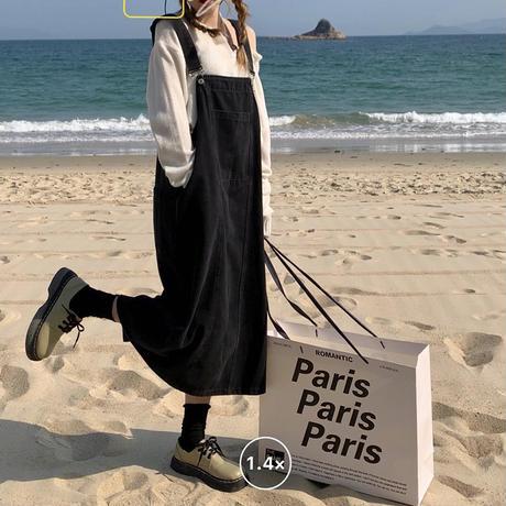 デニム サロペットスカート ジャンパースカート ジャンスカ ワンピース 韓国ファッション レディース カジュアル ガーリー DTC-641660227043