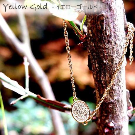 ハワイアンジュエリー ブレスレット コイン スクロール 波 金属アレルギー対応 刻印 名入れ メンズ レディース サージカル ステンレス PVD シルバー ゴールド ピンクゴールド gbs8197