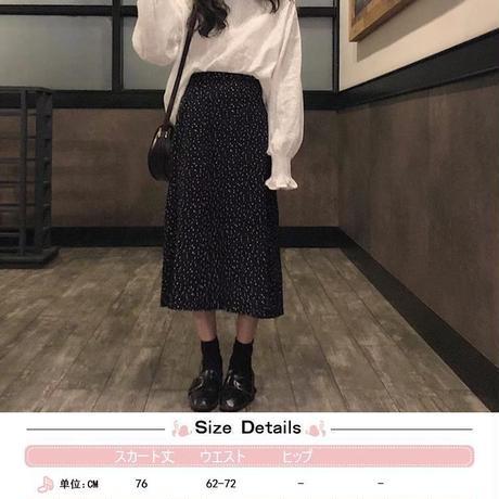 ドット柄 スカート Aライン 韓国ファッション レディース 水玉 ロングスカート ハイウエスト レトロ 春 秋 ガーリー フェミニン DTC-586891140129
