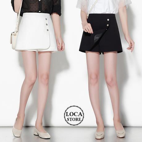 レディース ラップショートパンツ ボトムス キュロット ショートパンツ アシンメトリー 韓国ファッション (DCT-588543102317)