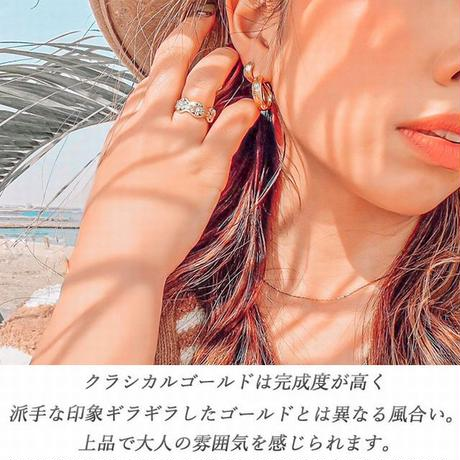 ※数量限定価格 片耳用 ハワイアンジュエリー フープ ピアス スクロール カレイキニ 波 金属アレルギー対応 太め メンズ レディース サージカルステンレス ropi05