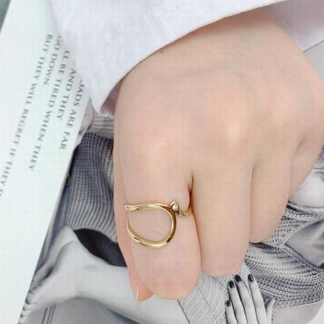 リング 指輪 CZ 金属アレルギー対応 イエローゴールド ローズゴールド チタンスチール キラキラ アクセサリー DTC-607468572172