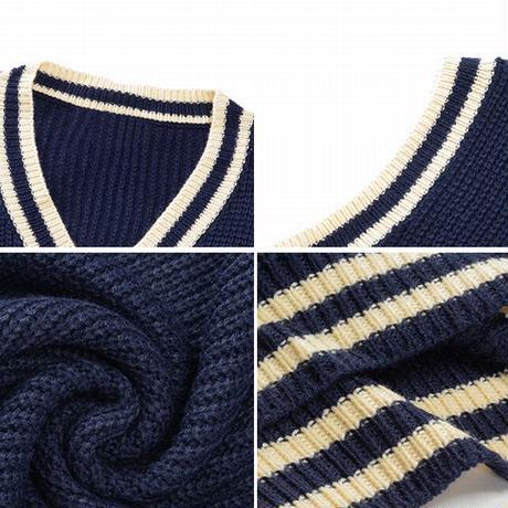 ニットベスト ルーズ Vネック ライン 韓国ファッション レディース ベスト ノースリーブ セーター シンプル レトロ 大人可愛い ガーリー DTC-626062121270