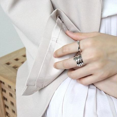 【シルバーアクセサリー】シンプル ひねり オープンリング  指輪 シルバー925 メンズ レディース ペア #13 #19 Kgf0501 (DCT-555608278400)