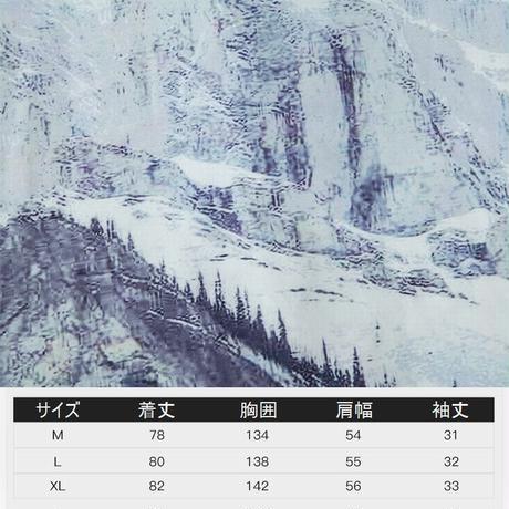 ユニセックス シャツ 柄シャツ 雪山 プリント 半袖 オーバーサイズ メンズ レディース トップス 大きめ ルーズ カジュアル ストリートファッション DTC-613602056845
