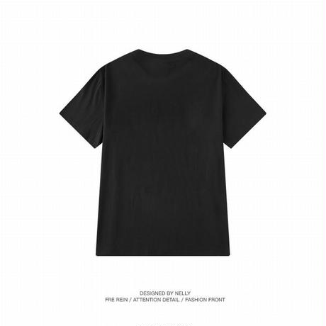 【3カラー】ユニセックス メンズ/レディース 半袖 Tシャツ 英字 サイドプリント ビッグT ルーズ ストリート 韓国ファッション (DCT-588348832649)