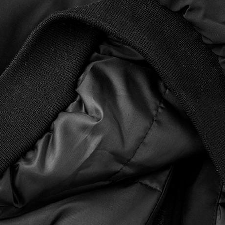 ユニセックス ブルゾン アウター メンズ レディース ジャンパー 袖ライン コットンパッド オーバーサイズ 大きいサイズ ルーズ ストリート TBN-608209376771