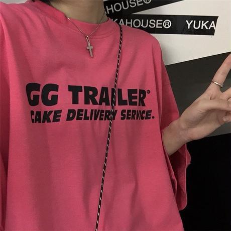 ユニセックス Tシャツ 英字プリント オーバーサイズ メンズ レディース トップス ゆったり 大きめ カジュアル ストリートファッション DTC-643066168364