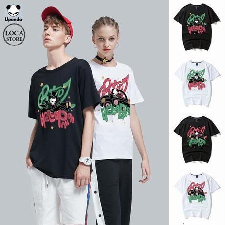 UPANDA 【2カラー】ユニセックス メンズデザイン/レディース 半袖 Tシャツ パンダプリント 人気 インスタ ストリート系 (DCT-587638115421)