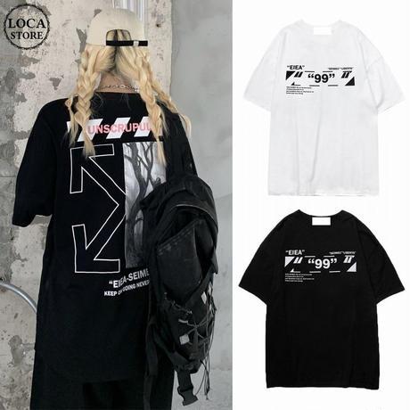 ユニセックス Tシャツ 半袖 ラウンドネック バックプリント オーバーサイズ メンズ レディース トップス 大きめ カジュアル ストリートファッション DTC-647820082238