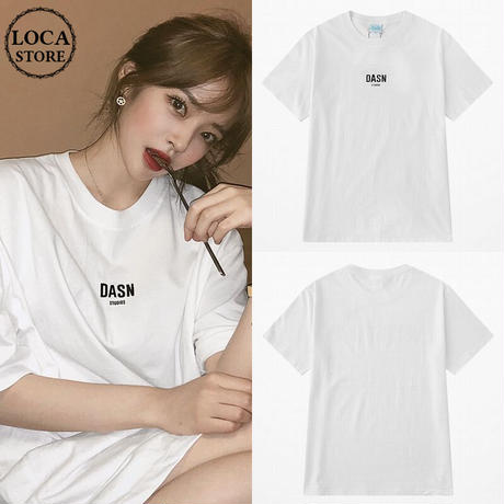 ユニセックス Tシャツ 半袖 ラウンドネック 英字 ワンポイント プリント オーバーサイズ 韓国ファッション メンズ レディース ストリートファッション DTC-589201953298