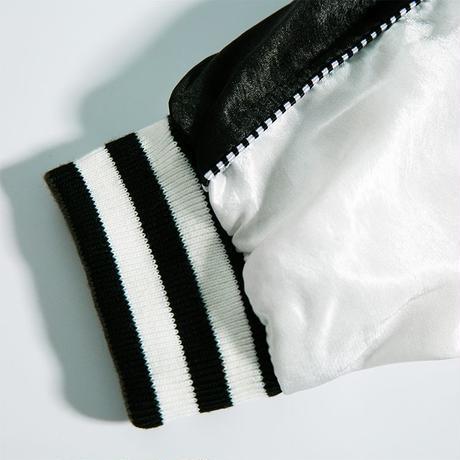SUAMOMENT メンズ/レディース ユニセックス 2way リバーシブル スカジャン 爪痕 両面 アウター ストリート系 韓国ファッション (DCT-577668183401)