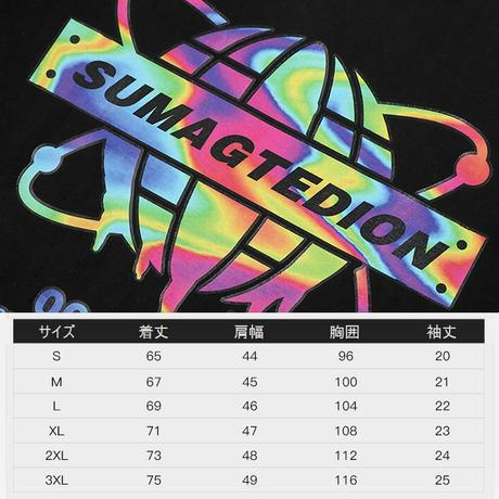 ユニセックス Tシャツ 半袖 メンズ レディース レインボーカラー プリント オーバーサイズ 大きいサイズ ルーズ ストリート TBN-624207848441