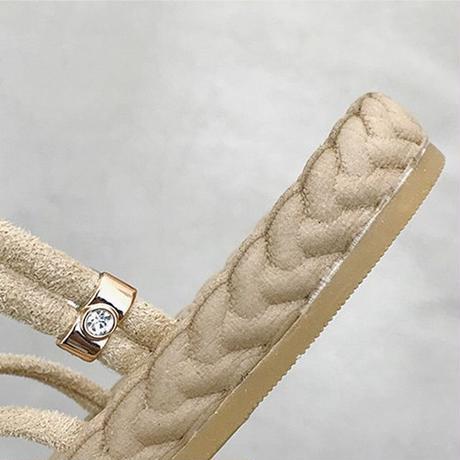 2WAY ストラップ サンダル フラットサンダル フラットボトム 韓国ファッション レディース ぺたんこサンダル ローマンシューズ 痛くない かわいい 靴 歩きやすい 592034139362