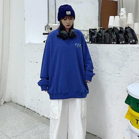 ユニセックス トレーナー プルオーバー 裏起毛 韓国ファッション メンズ レディース スウェット バツペイント ストリート DTC-610354120141