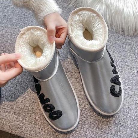 ファーブーツ ムートンブーツ 防寒 23.0~25.0cm 韓国ファッション レディース ファー ブーツ もこもこ 632006619048