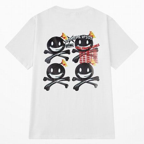 ユニセックス Tシャツ 半袖 メンズ レディース ボンバー ニコちゃん スマイリー プリント コットン オーバーサイズ 大きいサイズ ルーズ ストリート TBN-623522841963