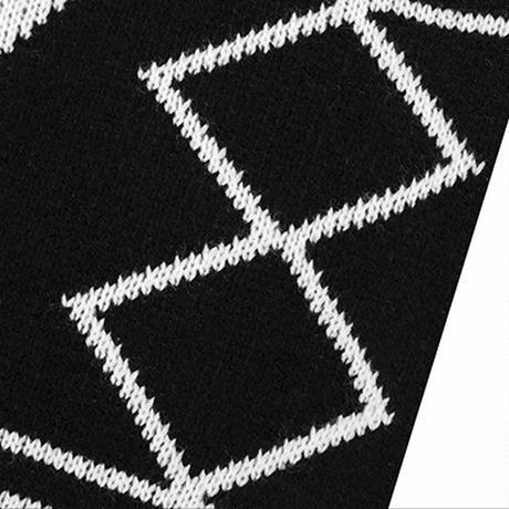 ユニセックス オルテガ柄 ニット カーディガン フリンジ 長袖 ルーズ 韓国ファッション メンズ レディース ネイティブ柄 ラペル ストリートファッション DTC-603312481656