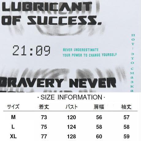 ユニセックス Tシャツ 長袖 ファントムレタープリント ラウンドネック オーバーサイズ トップス 大きめ カジュアル ストリートファッション DTC-650822796802