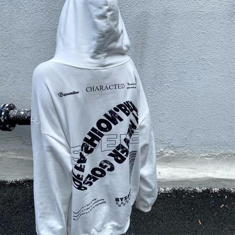 ユニセックス パーカー プラスベルベット バックレタープリント 長袖 オーバーサイズ 韓国ファッション メンズ レディース カジュアル ストリートファッション DTC-655603700994