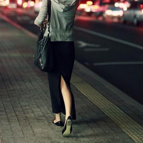 レディース ロングスカート タイトスカート リブスカート スウェットスカート スリット ペンシルスカート 韓国ファッション (DCT-39985307968)