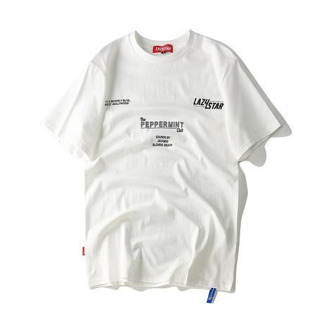 ユニセックス Tシャツ 半袖 メンズ レディース ラウンドネック 英字 バーコード プリント オーバーサイズ 大きいサイズ ルーズ ストリート TBN-572306536596