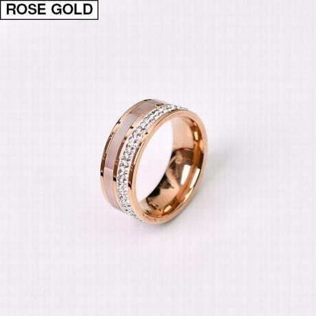リング レディース 金属アレルギー対応 イエローゴールド ローズゴールド チタンスチール ステンレス CZ 指輪 キラキラ アクセサリー DTC-597070310491