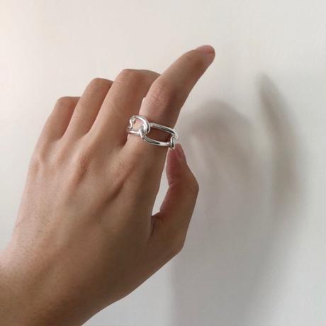 【シルバーアクセサリー】シンプル チェーンデザイン リング 指輪 シルバー925 メンズ レディース ペア #11 #13 #19 kgf0502 (DCT-583041422169)