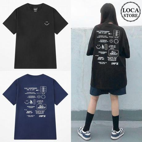 ユニセックス Tシャツ 半袖 メンズ レディース ラウンドネック シンプル バックプリント オーバーサイズ 大きいサイズ ルーズ ストリート TBN-623397987212