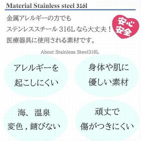 ハワイアンジュエリー ネックレス バー メンズ レディース 金属アレルギー対応 ハワジュ スクロール マイレ サージカル ステンレス PVD インスタ gps81212
