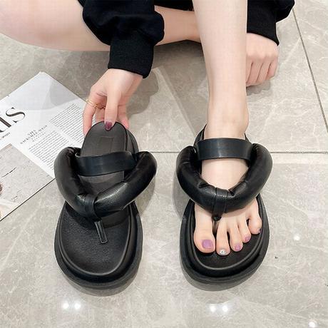 トングサンダル ぺたんこサンダル フラットサンダル ビーチサンダル 韓国ファッション レディース サンダル トレンド 歩きやすい DTC-642856578289