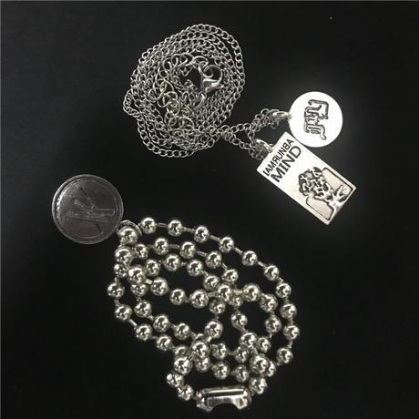 2セット ネックレス コイン プレート メダル チェーン付 ペンダント 金属アレルギー対応 チタン ユニセックス ストリート TBN-597612100572
