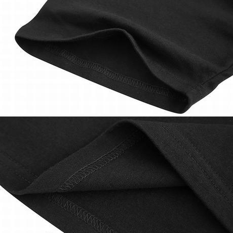 【4カラー】ユニセックス メンズ/レディース バックプリントTシャツ 半袖 ストリート系 ロゴTシャツ 大きいサイズ 韓国ファッション (DCT-576582801503)