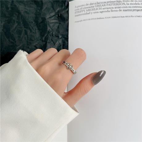 リング 指輪 ハート バックルベルトモチーフ レディース フリーサイズ オープンリング 調整可能 ホワイトゴールド アクセサリー 合金 DTC-624686896527