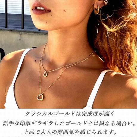 ハワイアンジュエリー ネックレス オープンハート スクロール 波 カレイキニ 金属アレルギー対応 メンズ レディース サージカルステンレス シルバー ゴールド ピンクゴールド gps81258