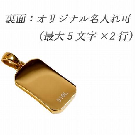 ハワイアンジュエリー ネックレス プレート 刻印可能商品 金属アレルギー対応 メンズ レディース スクロール CZ サージカル ステンレス シルバー ゴールド ピンクゴールド gps81209