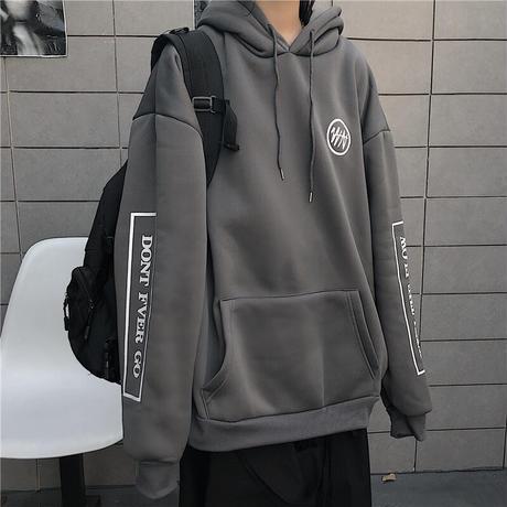 ユニセックス プルオーバー パーカー メンズ レディース 袖プリント オーバーサイズ ルーズ 大きいサイズ ストリート ファッション TBN-628259573168