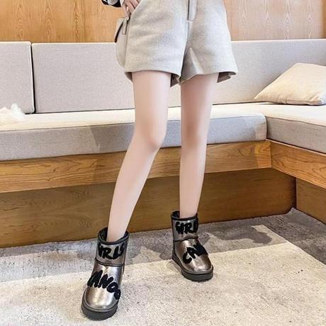 ファーブーツ ムートンブーツ 23.0~25.0cm 韓国ファッション レディース ファー ブーツ もこもこ 防寒 防水 カジュアル ガーリー 631924399223