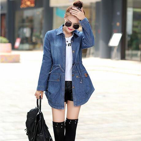 レディース デニムコート/デニムジャケット ショートコート 長袖 アウター ジャケット フェミニン 韓国ファッション オルチャン (DCT-535526341852)