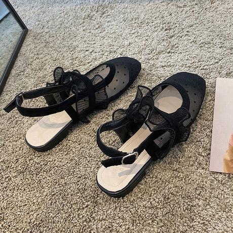 ドット柄 メッシュ フラット サンダル 韓国ファッション レディース ストラップ バックストラップ ぺたんこサンダル 痛くない かわいい 靴 歩きやすい 616769192090