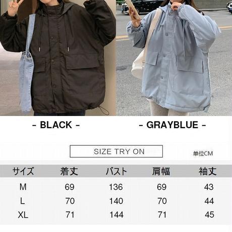 マウンテンパーカー マウンテンジャケット 中綿 韓国ファッション レディース ブルゾン アウター ジャケット ゆったり アウター 体型カバー シンプル DTC-630476996502